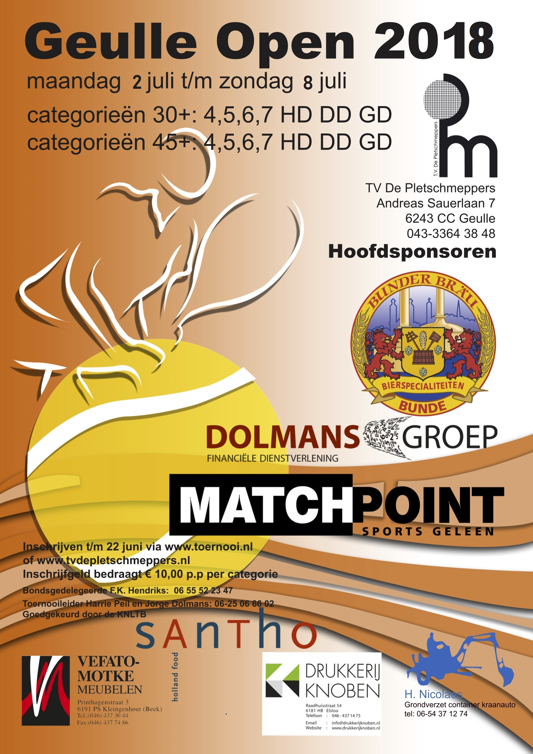 Poster Geulle Open 2018